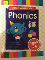 CHILDREN'S LEARNING -  HOME WORKBOOK    PHONICS   AGE 3-6   40 PAGE BOOKLET