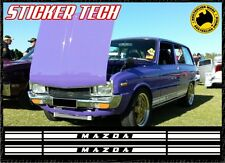 MAZDA ROTARY SIDE STRIPES STICKER DECAL SUITS RX2 RX3 RX7 RX3 RX8 R100 MX5 MIATA
