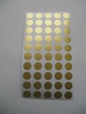 200 Markierungspunkte 12 mm Gold Metallfolie  matt Klebepunkte Matt