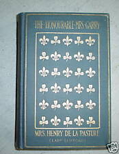 1912 Book Honourable Mrs Garry by Lady Clifford