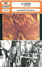 FICHE CINEMA GERMANY  LE GOLEM / DER GOLEM Réalisateurs Paul Wegener Carl Boese