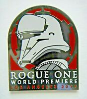 Star Wars Los Angeles World Premiere 2016 Rogue One Enamel Pin -new