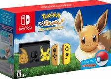 Nintendo Switch Pikachu & Eevee Edition w/ Pokemon: Let's Go, Eevee! Poke Ball +