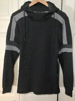 Amongst Others Mens Pullover Hoodie Shirt Charcoal With Gray Trim Sz Small. NWT