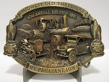 Case 5th Heritage Expo 42nd Reunion 1991 Midwest Old Threshers Belt Buckle Eagle