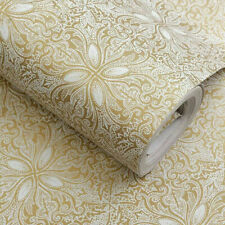 Self Adhesive Film Flower Beige Peel and Stick Wallpaper Contact Paper Damask