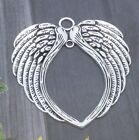 1/5 Pcs Large Antique Silver Guardian Angel Wing Charms Jewelry Pendant 68x65mm