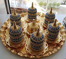 27 Pc Turkish Greek Arabic Coffee Espresso Cup Swarovsk Crystal Set  DHL EXPRESS