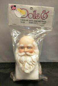 """Vintage 1993 Mangelsen's Porcelain Santa Head and Hands 3-3/4"""" #162-26"""