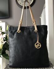 Beautiful Michael Kors Black pebbled Leather Tote Bag , Over Shoulder Handbag