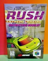San Francisco Rush Racing - Nintendo 64 N64 - Instruction MANUAL ONLY - No Game