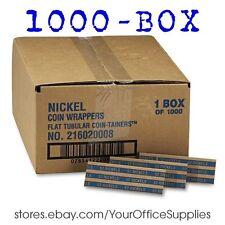 Pop-open Flat Kraft COIN WRAPPERS Sorter NICKEL roll nickle paper currency money