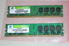 CORSAIR 2GB (2x1GB) PC2-5300 DDR2 667MHz   VS1GB667D2