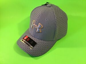 New UNDER ARMOUR UA Ckassic Fit Youth Boys Snapback Hat Sz S/M Gray