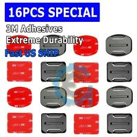 16 Pcs Helmet Accessories Flat Curved Adhesive Mount For Gopro Hero 3 3+ 4 5 6 7