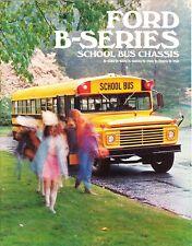 1971 Ford B-Series School Bus Chassis B-500-750 B-6000 B-7000 Sales Brochure
