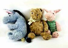 "Classic Pooh Stuffed Plush Winnie the Pooh Eeyore Piglet Large 14"" Nursery Baby"