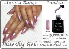 BLUESKY TUNDRA 80609 AURORA RANGE PINK METALLIC UV LED GEL NAIL POLISH FREE P&P