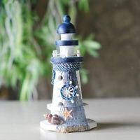 Wooden Nautical Lighthouse Beacon Tower Mediterranean Sea Theme Decor Crafts