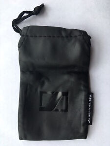 NEW Sennheiser Earphones PU Leather Drawstring Storage Pouch/Soft Case - Black