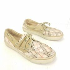 Sperry Top Sider Boat Shoes Size 6 Slip On Loafer Comfort Plaid Sequin Flats