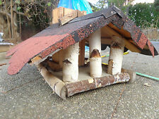 xxL Vogelhaus Vogelvilla Vogelfutterhaus Futterhaus Vogelhäuschen, Dach rot