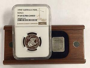 1995 P Australia Pt Platinum $50 Koala NGC PF 69 Ultra Cameo 1/2 Oz.