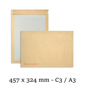 50 Manilla Board Backed Self Seal Premier Envelopes - A3/C3 Please do not bend