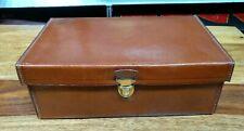 beautiful vintage leather collar storage trinket money jewellery box case
