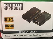 2 Lot Installer Approved HDMI Extender 1080P 200FT Extend Audio Vidio Signals