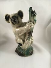 Vintage Coopercraft Ceramic Model Koala Bear on Tree Trunk Pottery Ornament