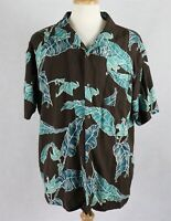 Island Republic Mens 100% Silk Hawaiian Shirt Size 2XL XXL