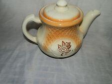 Vintage,Portlier Trade Mark,Brown Rose & Lattice Design,Covered,Teapot