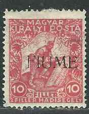 Italy Fiume Hungary Stamp B1c SAS 1A/VI 10+2f Red MHR F/VF 1919 SCV