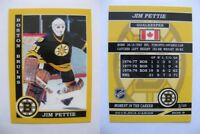 2015 SCA Jim Pettie Boston Bruins goalie never issued produced #d/10 super rare
