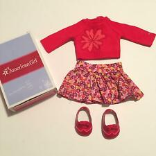 American Girl Doll Flower Sweater and Skirt Outfit MyAG with Box (A29-18)