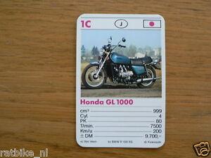 10-MOTOREN 1C HONDA GL1000 GOLDWING KWARTET KAART MOTORCYCLES, QUARTETT,SPIELK
