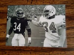 Walter Payton Bears Earl Campbell Oilers Football 4x6 Game Photo Picture Card