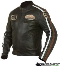 GRAND CANYON Lederjacke NEVADA Herren Retro Jacke Motorradjacke braun Gr. 52