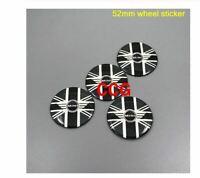 4pcs 52mm 54mm colorful England Flag MINI WORKS 52mm wheel sticker 4