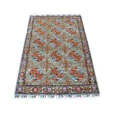 "3'2""x4'10"" Brown Afghan Ersari Mat Natural Wool Hand Knotted Oriental Rug R55530"
