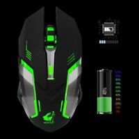 X7 Ricaricabile Mouse gioco Ottico Senza Fili Wireless per PC Laptop 1600DPI IT