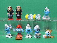 Schtroumpf Lot 10 figurine famille complète Variante Kinder série BD 2010 Smurf