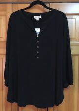 NWT MICHAEL KORS BLACK Blouse w/ Gold Buttons *  Womens Size 2x MSRP $99.50