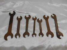 Old Vtg LOT 7 OPEN ENDED WRENCH WRENCHES Mechanics Tool Garage Tools Estate Buy