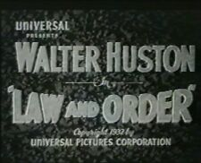LAW AND ORDER 1932 (DVD) WALTER HUSTON, HARRY CAREY