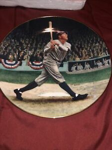 """Babe Ruth """"The Called Shot"""" Delphi Collectors Plate NY YANKEES 18550d"""