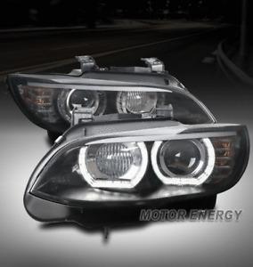 FOR 07-10 BMW E92 328I 335I [HID MODEL] HALO PROJECTOR HEADLIGHTS HEADLAMP BLACK