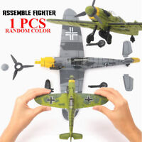 1Pcs Random Color Bf-109 German WW2 Fighter Plastic Assemble Model Kit 1/48