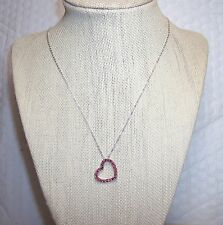 M6GG/ Red Spinel Sterling Silver Pendant TGW .90ct